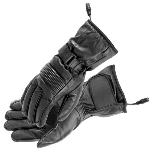 (Firstgear Heated Rider Gloves Black Leather Size XX-Large 512811)