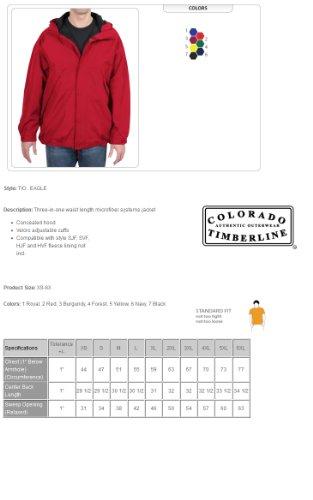 Colorado Timberline Men's Eagle 3 In 1 Microfiber Jacket-M (Yellow)