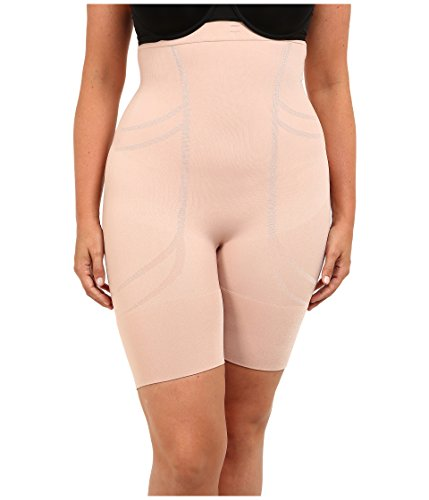 SPANX Plus Size Slim Cognito Firm Control High-Waist Shaper, 2X, Rose Gold