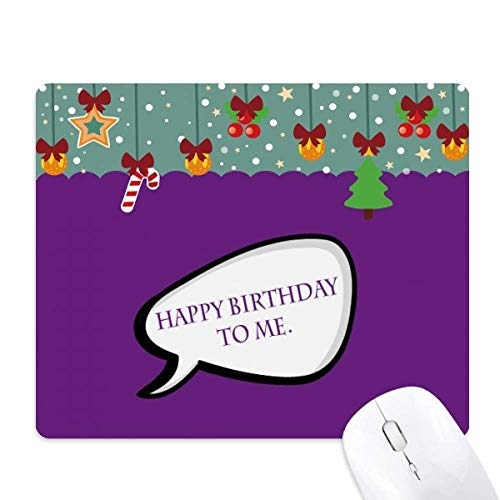 Daily Language Chat Happy Birthday Mouse Pad Game Office Mat Christmas Rubber Pad (Chat Happy Birthday)