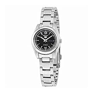 Seiko 5 #SYMK27 Women's Stainless Steel Black Dial Day Date Automatic Watch by Seiko Watches