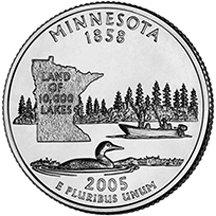 2005 P Minnesota State Quarter Choice Uncirculated - 2005 Minnesota State Quarter