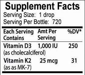 Vitamin Potent Liquid Improve Strengthen Bones and Teeth Immune - Bottle -