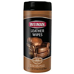 Weiman Leather Wipes - Clean and Condition Car Seats, Shoes, Couches and More - 30 Count