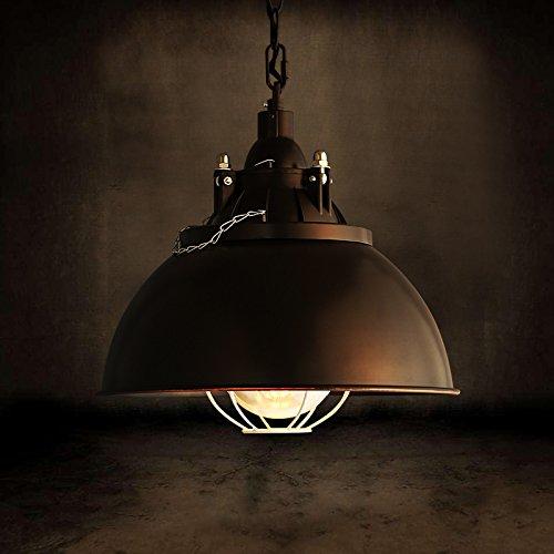 (Mozeny Vintage Industrial Black Metal Fisherman Lamp Shade Ceiling Pendant Light Retro Creative E27 Edison Glass Hanging Lamp for Office Restaurant Bars Café Dining Room Barn Chandelier)