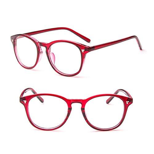 Richi PC Vintage Clear Lens Eyeglasses Frame Retro Men Women Unisex Glasses Optical (Wine - Eyeglass Frames Brand Retro