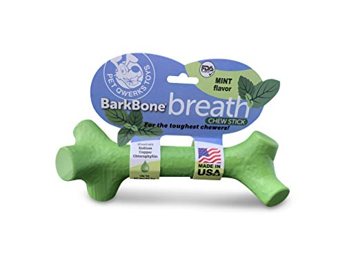 (Pet Qwerks Barkbone Breath Dental Chew Stick with Mint Flavor for Aggressive Chewer Dogs, Made in USA)