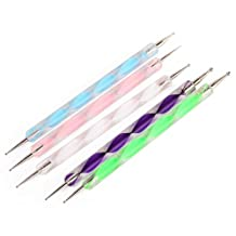 5x 2 Way Nail Art Tool Marbleizing Painting Dotting Pen