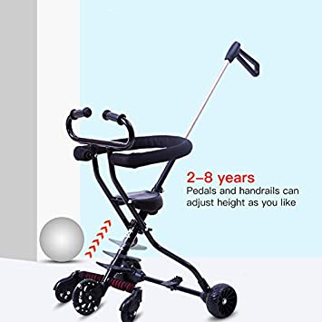 Lightweight Baby Stroller Portable Stroller with Brake and Safety System for Toddler 2-8 Years Old