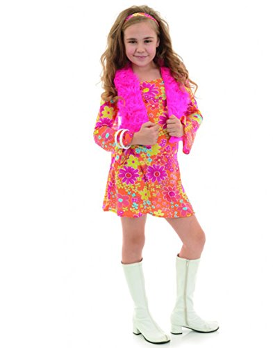 Underwraps Big Girl's Girl's Flower Power Costume - Medium Childrens Costume, Multi, Medium -