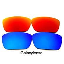 Galaxy Replacement Lenses for Oakley Fuel Cell Red&Blue Color Polarized 2 Pairs