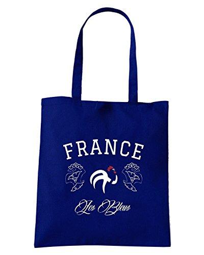 T-Shirtshock - Bolsa para la compra WC0359 FRANCE NATIONAL TEAM FOOTBALL T-SHIRT Azul Marino