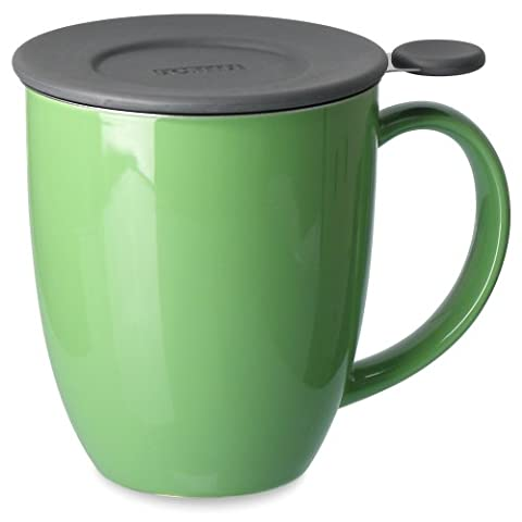 FORLIFE Uni Brew-in-Mug with Tea Infuser and Lid, 16-Ounce, Ivy