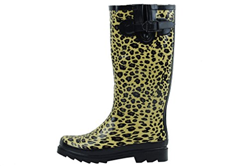 Sunville New Women's Rubber Rain Boots, Available In Multiple Styles Leopard