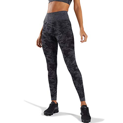 WodoWei Women's High Waisted Camo Seamless Leggings 7/8 Length Workout Yoga Pants