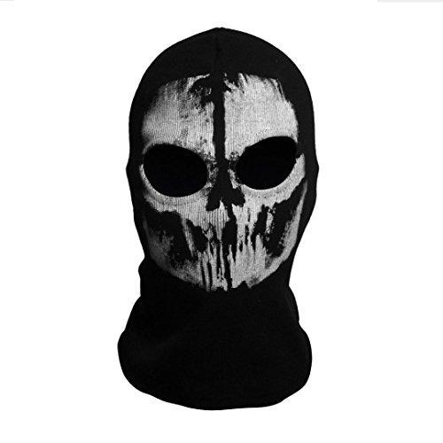Cod Ghosts Halloween (SzBlaZe Unisex Cotton Ghost Print Stocking Balaclava Mask Good For War Game Halloween Cosplay (Print)