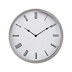 AmazonBasics 12 Roman Wall Clock, Nickel