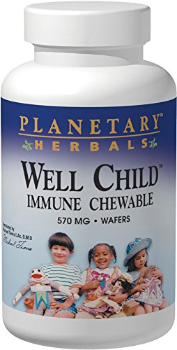 (Planetary Herbals Well Child Immune Chewable Wafers, 120 Count)