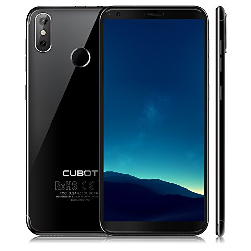 (CUBOT R11(2018) Android 8.0 Smartphone Unlocked, 18:9 FHD 5.0 inch Touch Screen Sim Free Mobile Phone, Android 8.0, 3G Dual SIM,2GB RAM+16GB ROM,13MP+8MP Dual Camera, WIFI, GPS,Bluetooth(BLACK))