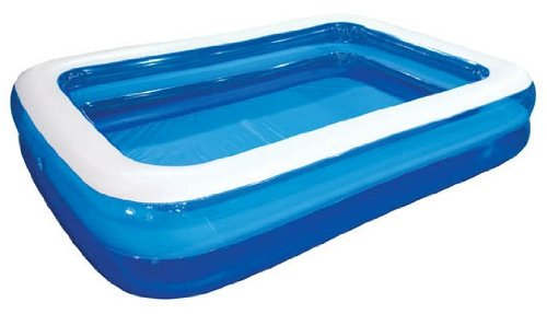 - Giant Inflatable Kiddie Pool - Family and Kids Inflatable Rectangular Pool - 10 Feet Long (120