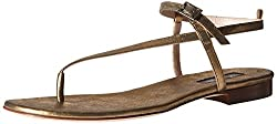 SJP by Sarah Jessica Parker Women's Revival Dress Sandal, Gold, 38 EU/7.5 M US