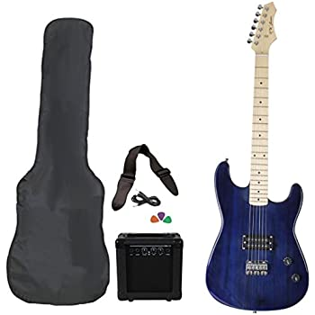 jameson guitars rwgt280tbl full size electric guitar package with amplifier case and. Black Bedroom Furniture Sets. Home Design Ideas