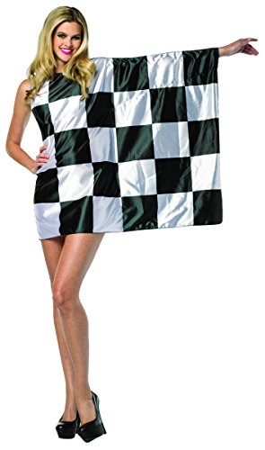 Rasta Imposta Women's Flag Dress-Checkered, Black/White, One Size ()