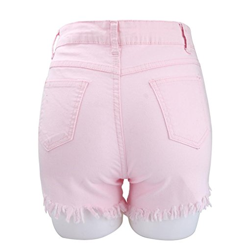 Shorts Rose Hot Jeans Pantalon Haute Femmes Taille Mode D't Jeans Plage de Denim Winwintom fPR1xx