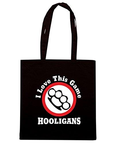 T-Shirtshock - Bolsa para la compra T0157 i love this game hooligans Negro
