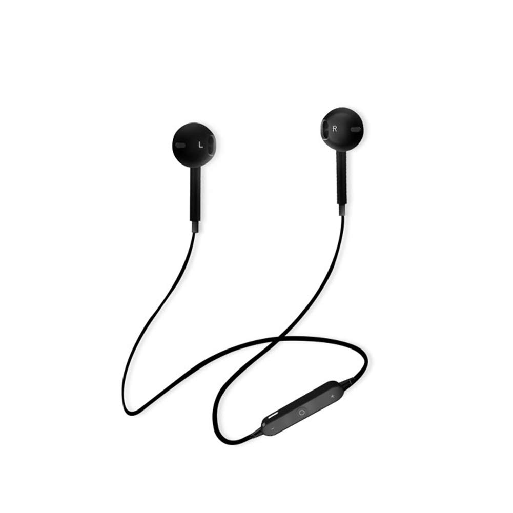 YaptheS Bluetooth Headset Wireless Headset V4.1 Stereo Noise Cancellation Sports Headphones Headphones with Battery Samsung Galaxy S9/S8/S7 iPhone X/8/8 + /7 + (Black) Phone Accessories