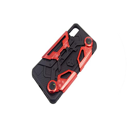 The Most Fashionable Mobile Phone Case for iPhone X 6s 7 Plus 8 Plus Crab Game Handle Bracket TPU+PC Mobile Soft Phone Shell,red,for iPhone 6 (Luna Apple Crab)