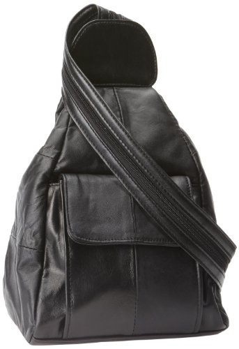 Embassy Solid Genuine Lambskin Leather Hobo Sling/Backpack (Embassy Solid Leather Purse)