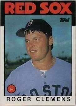 (Roger Clemens 1986 Topps Baseball Card #661 )