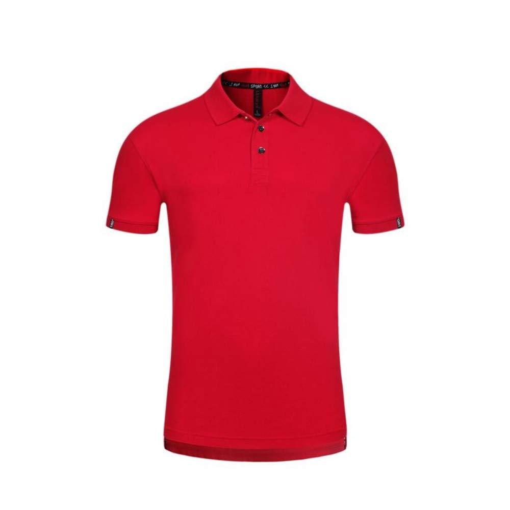 NISHISHOUZI Der modische Männer Poloshirt Reine Farbe Stil pflegen die Moral Kurzarm Polo Shirt rot B07QFMLDMK Poloshirts Attraktiv und langlebig