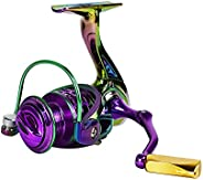 Zide Colorful Spinning Reels 44 LB Max Drag 9+1 Bearing Lightweight Metal Spool 4.7:1-5.2:1 High Speed Gear Ra