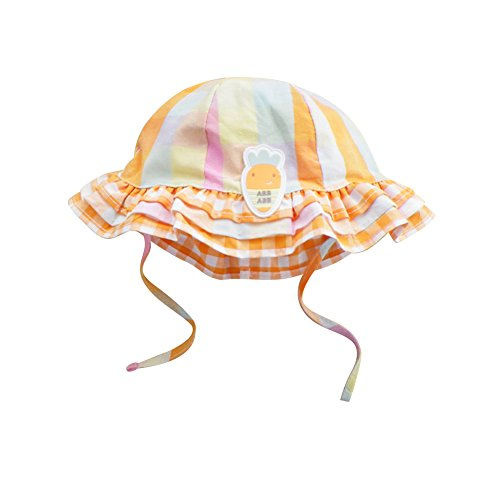 nice IMLECK Sunny Carrot Plaid Cotton Fisherman Hat with Wide Brim for Sun Protection big discount