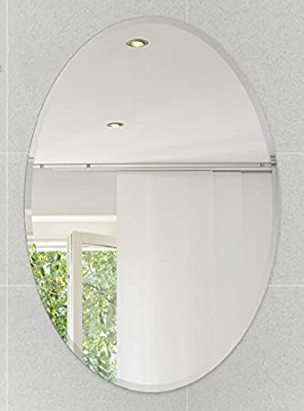 fab glass and mirror oval beveled polish frameless wall mirror with hooks 24u0026quot