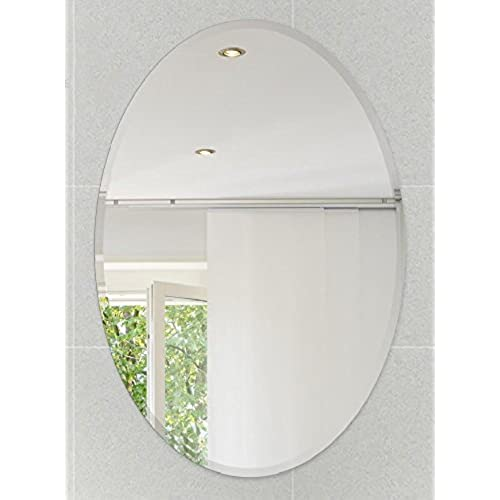 bathroom mirrors mirror wooden framed oval frameless