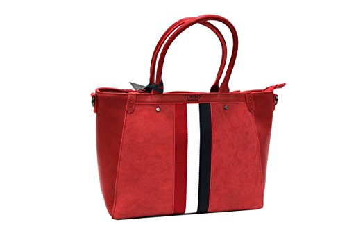 Borsa donna Tommy Barbados l.Magnolia mod.shopping a mano 719 red