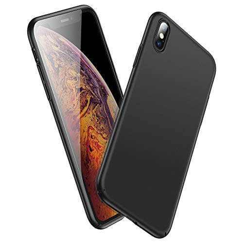 "GEARART for Slim iPhone Xs Max Case,Ultra Thin Light [Hard PC] Protective Cover with Coated Matte Surface for iPhone Xs Max (Only) 6.5"" Inch 2018 Release [Support Wireless Charging],Black"