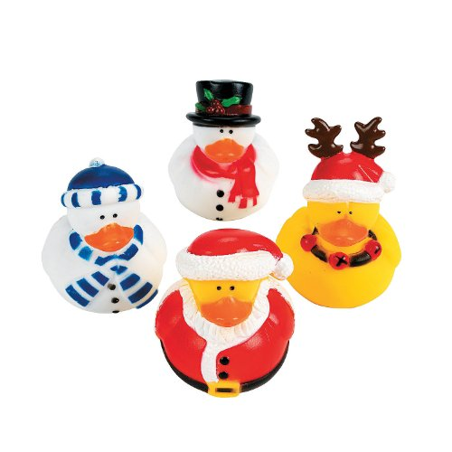 Holiday Christmas Rubber Duckies (Pack of 12)]()