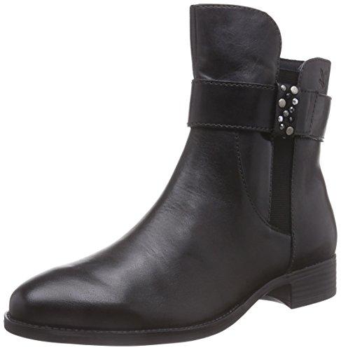Caprice 25338 - botas de cuero mujer negro - negro
