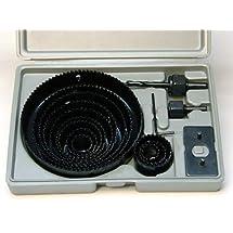 "HOLE SAW SET - 16 pc Hole Saw Kit- 3/4"" - 5"" inch - includes Case"