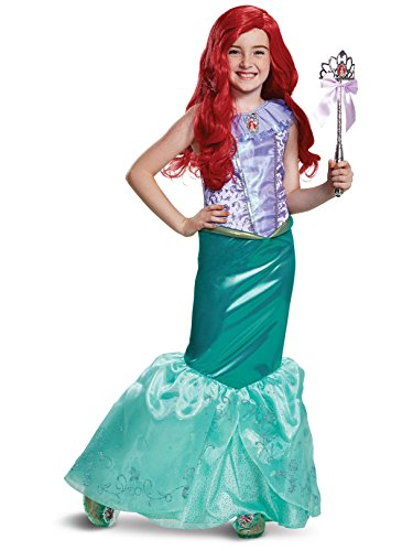 Disguise Ariel Deluxe Child Costume, Teal, X-Small/(3T-4T)]()