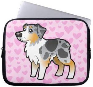 Australian Shepherd Love Laptop Sleeve Bag Notebook Computer PC Neoprene Protection Zipper Case Cover 13 Inch