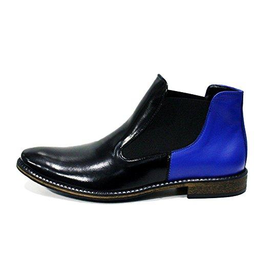 Handmade Chelsea Bleu Sur De Pour Glisser Peppeshoes Cuir Bottes Souple Des Cisterna Italiennes Modello Latina Bottines Hommes Di Vachette vwqgCI