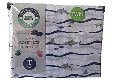 Lucy & Leo Twin Complete Bed Sheet Set- Unicorns, Rainbows or Sharks
