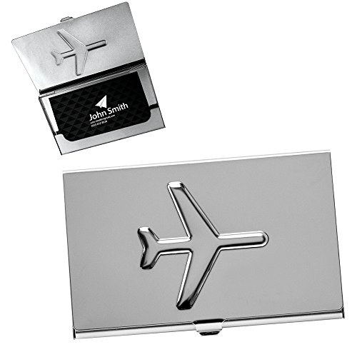 Metal Airplane Business Card Case