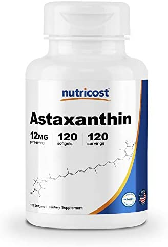 Nutricost Astaxanthin 12mg 120 Softgels