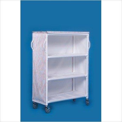 Deluxe 3 Shelf Linen Cart Spacing Size: 16'', Mesh Cover Color: Blue